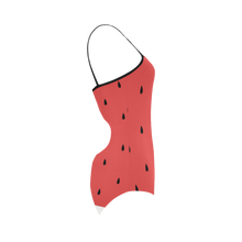 Watermelon Stripe Strap Swimsuit ( Model S05) - Ugly Station