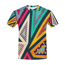 Hipster Geometric Seamless Pattern All Over Print T-Shirt for Men (USA Size) (Model T40) - Ugly Station