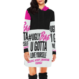 Ugly Bae Pink Dress All Over Print Hoodie Mini Dress (Model H27) - Ugly Station