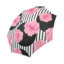 Seamless Pattern of Roses Auto-Foldable Umbrella (Model U04) - Ugly Station