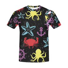 Starfish And Anchor All Over Print T-Shirt for Men (USA Size) (Model T40) - Ugly Station