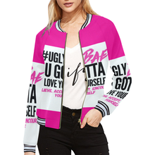 #UglyBae All Over Print Bomber Jacket for Women (Model H21) - Ugly Station
