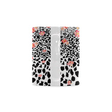 Leopard Skin With Flowers White Mug(11OZ) - Ugly Station