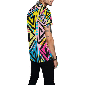 Tribal Boho All Over Print Baseball Jersey for Men (Model T50) - Ugly Station
