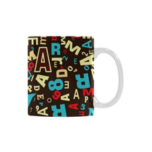 English Letters Graffity White Mug(11OZ) - Ugly Station