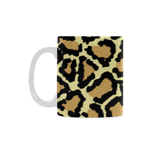 Leopard Skin Pattern(2) White Mug(11OZ) - Ugly Station