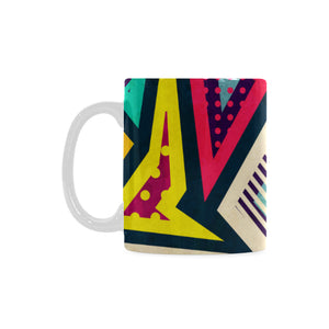 Hipster Geometric Seamless Pattern White Mug(11OZ) - Ugly Station