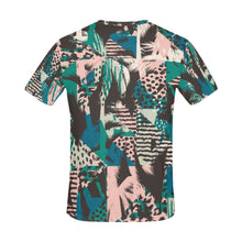 Trendy Seamless Exotic Pattern with Palm Animal All Over Print T-Shirt for Men (USA Size) (Model T40) - Ugly Station