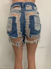 women's fringed ripped five-point jeans