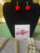 Rose Sparkle Earrings - Ugly Station