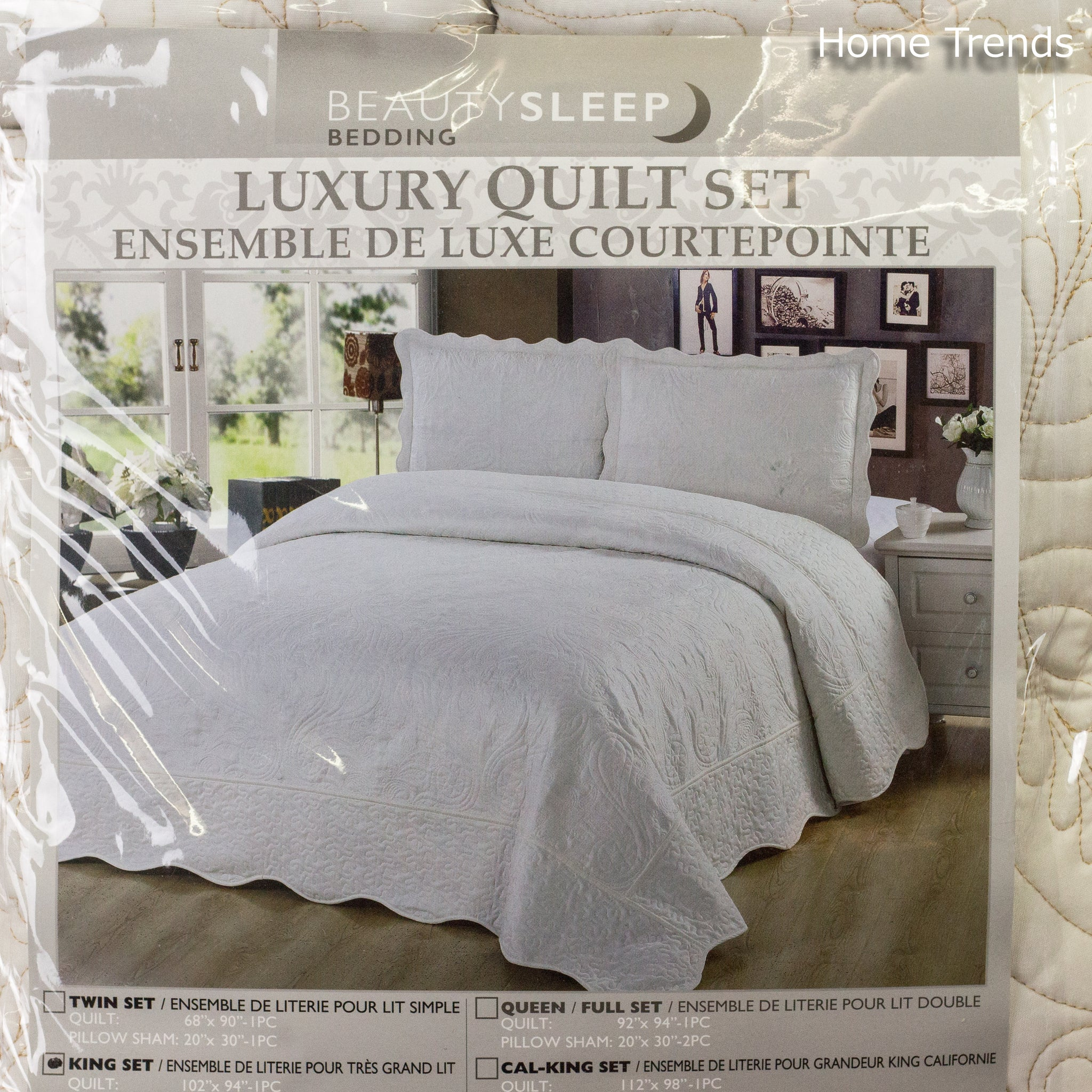 Bedding Off White King Luxury Quilt Set Home Trends