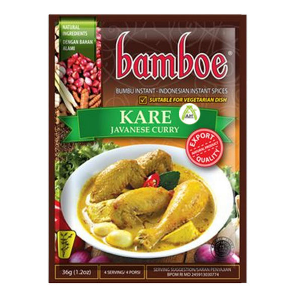 Bamboe Kare 36g - Javanese Yellow Curry Soup 36g