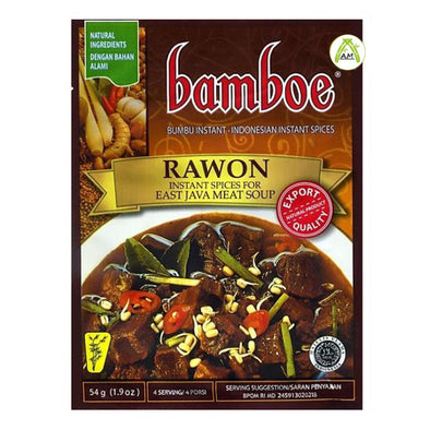 Bamboe Rawon 54g - Instant Spices for East Java Meat Soup