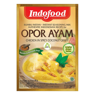 Indofood Opor Ayam 45g - Seasoning for Chicken in Rich Coconut & Spices Gravy