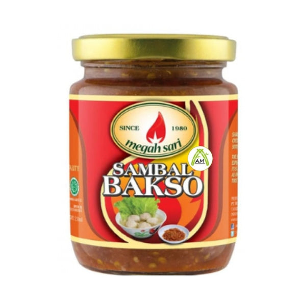 Megah Sari Sambal Bakso 250ml - Megah Sari Chili Sauce for Meat Ball Soup