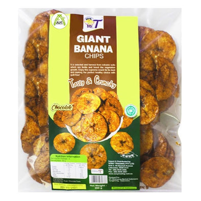 Mr. T Giant Chocolate Banana Chips - Kripik Pisang Raja Rasa Cokelat
