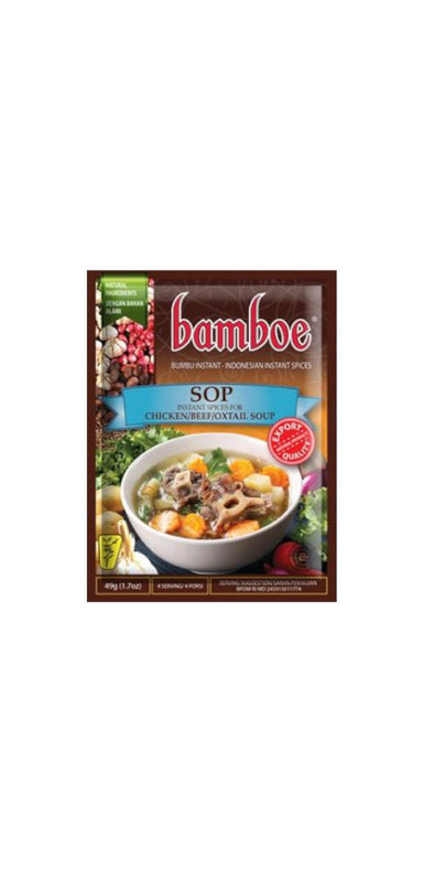 Bamboe Sop 49g - Instant Seasoning for Beef, Chicken, Oxtail Soup