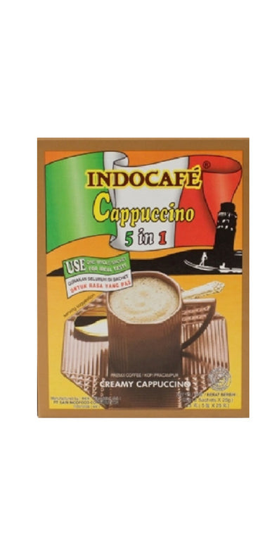 Indocafe Cappuccino 5x25g