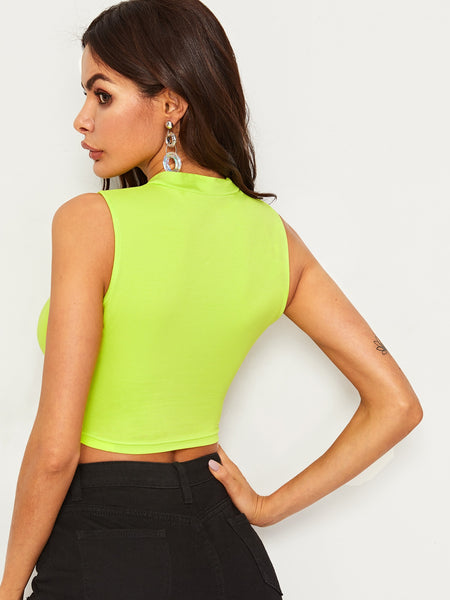 Neon Green Summer Sexy Top