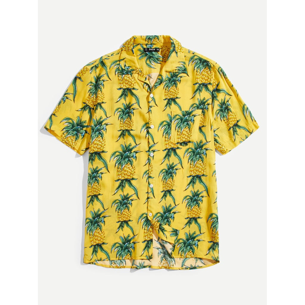 New Men Summer Style Pineapple Design Shirt
