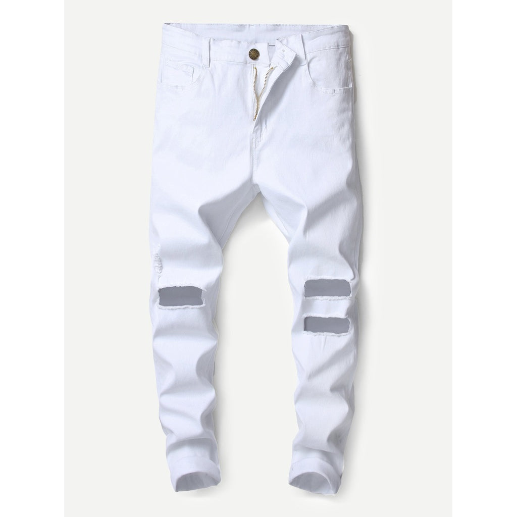 Men High Plain Stylish Skinny Jeans