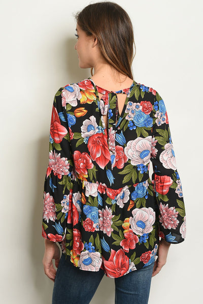 Multi Color Womens Floral Top - BrandsGuru