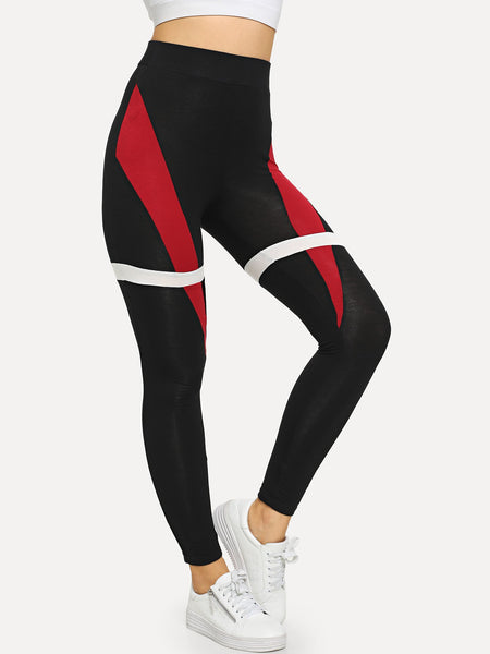 Sporty Cut and Sew Leggings