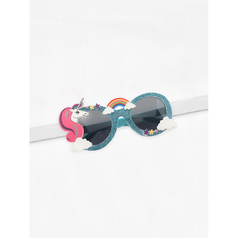 Kids Style Girls Unicorn Frame Sunglasses