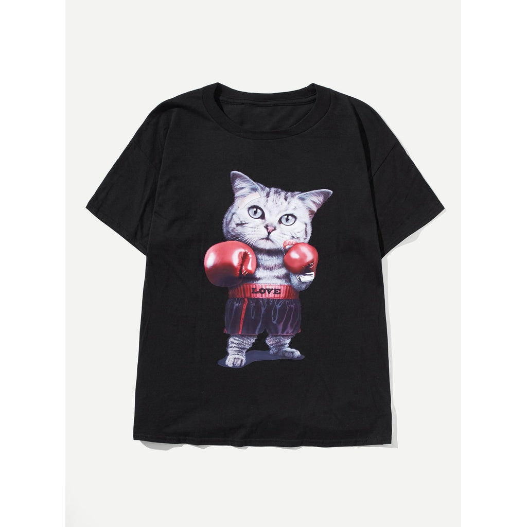 New Men Cutie Cat T-shirt