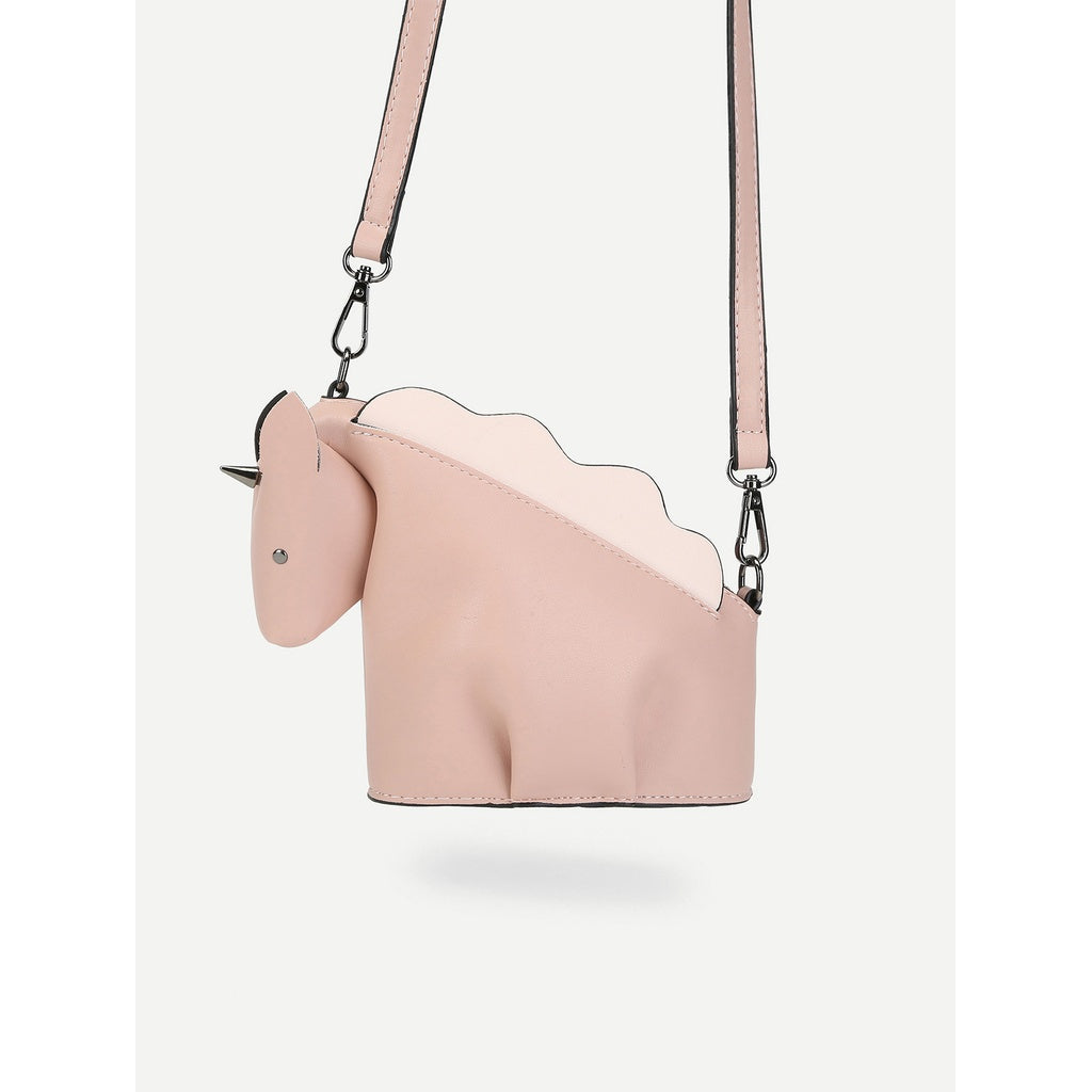 Trendy Unicorn Shaped Pure Crossbody Bag - BrandsGuru