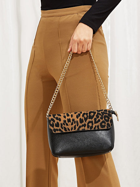 Leopard Shape New Chain Satchel Bag