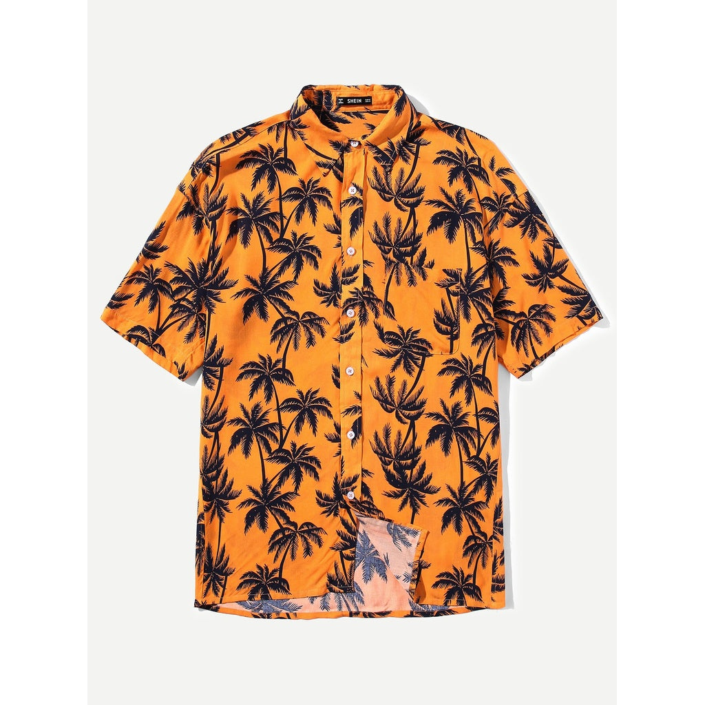 Men  Summer Beach Style Tropical Shirt