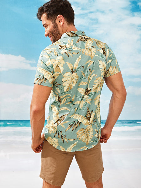 Men Tropical Style Summer Shirt - BrandsGuru