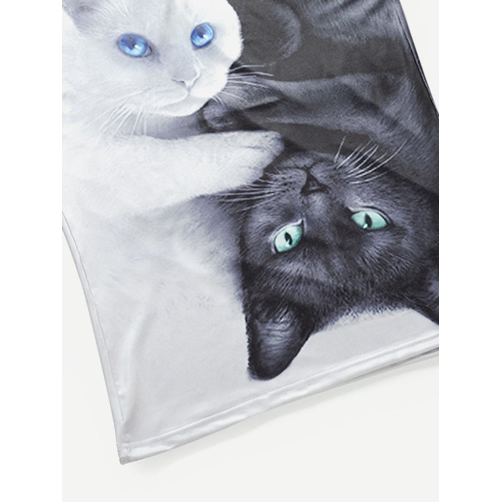 Men 3D Stylish Cat Design Tee