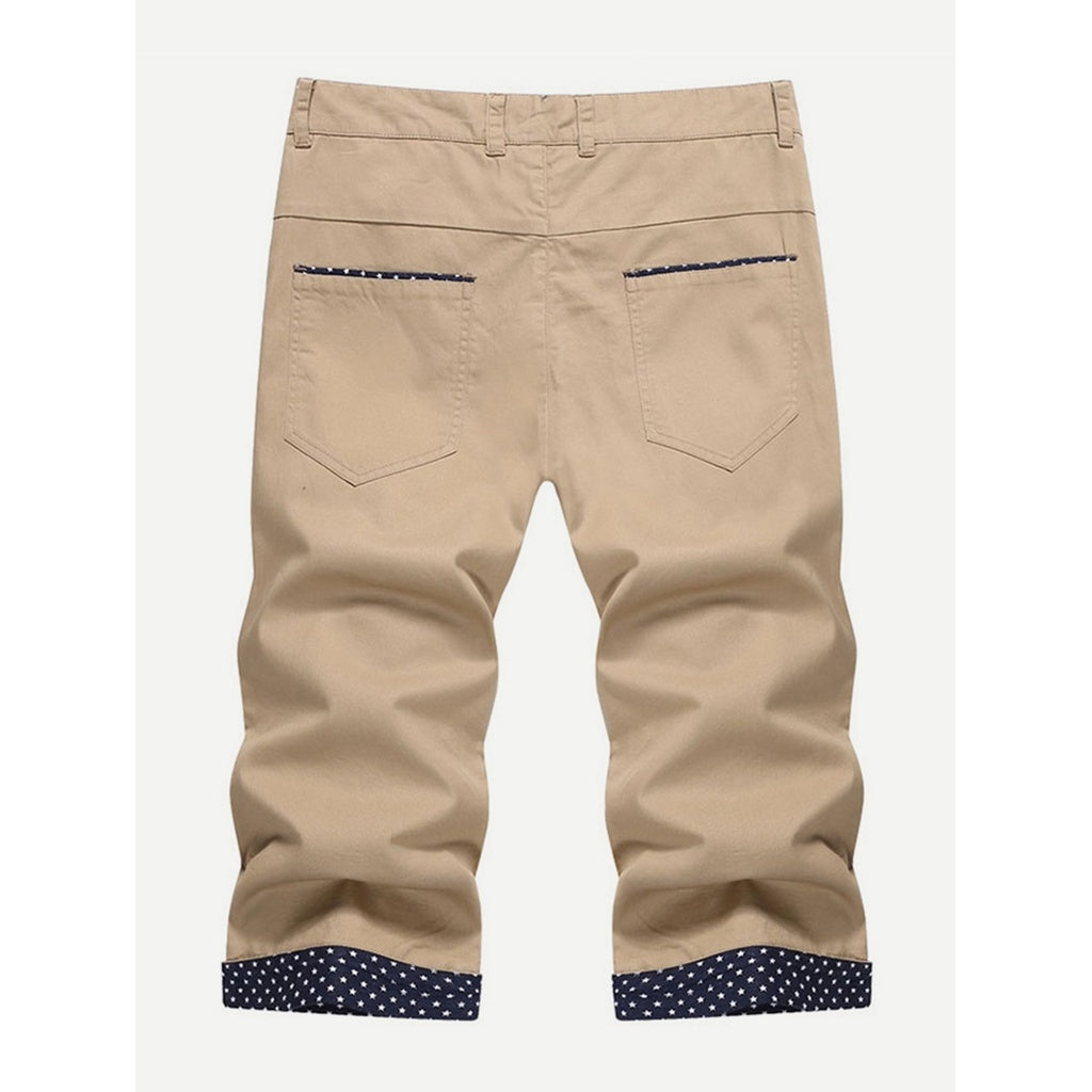 New Men Rolled Hem Style Shorts