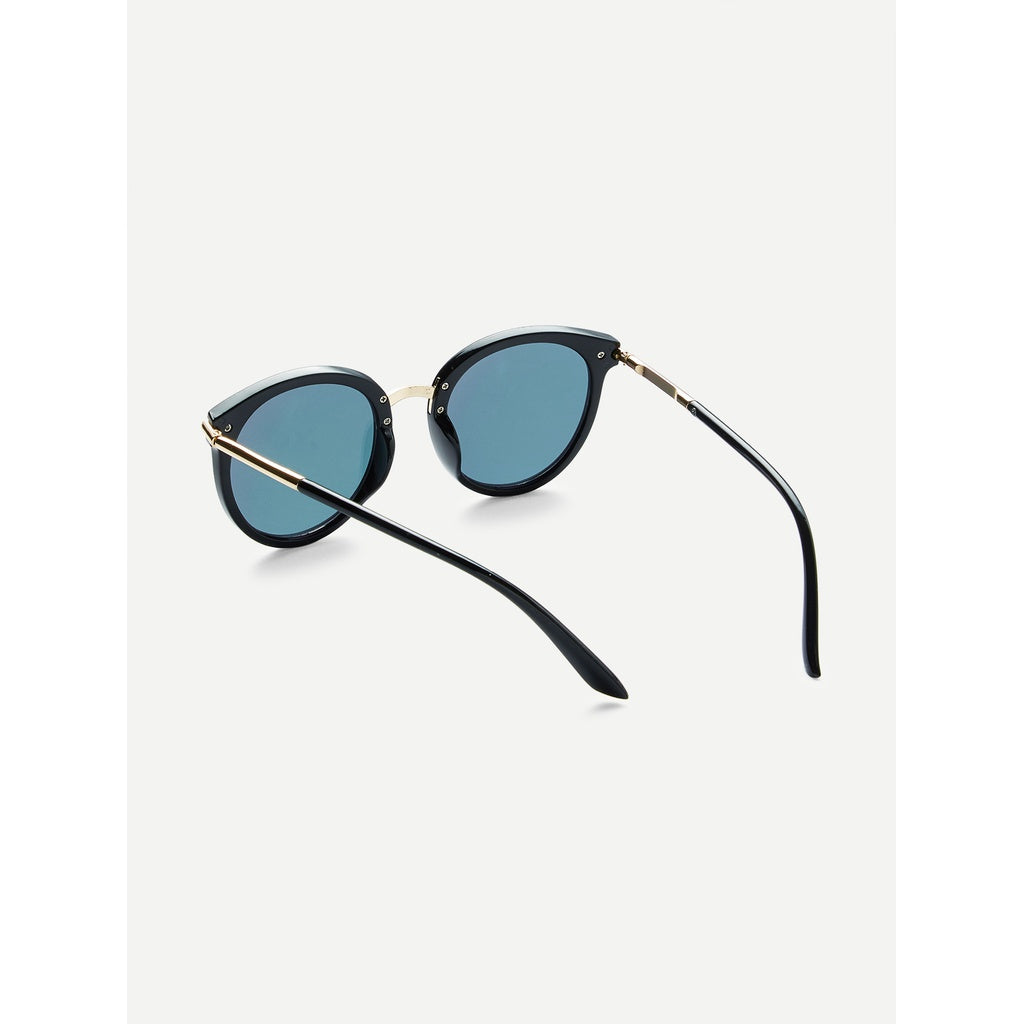 Fresh Look Two Tone Frame Flat Lens Sunglasses
