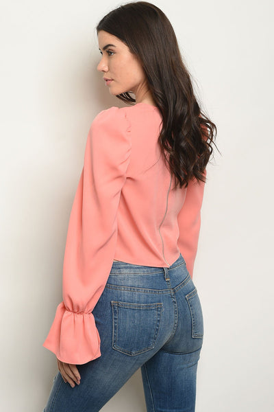 New Fashion Style Peach Top