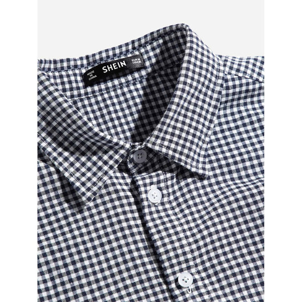 New Men Gingham Style Shirt - BrandsGuru