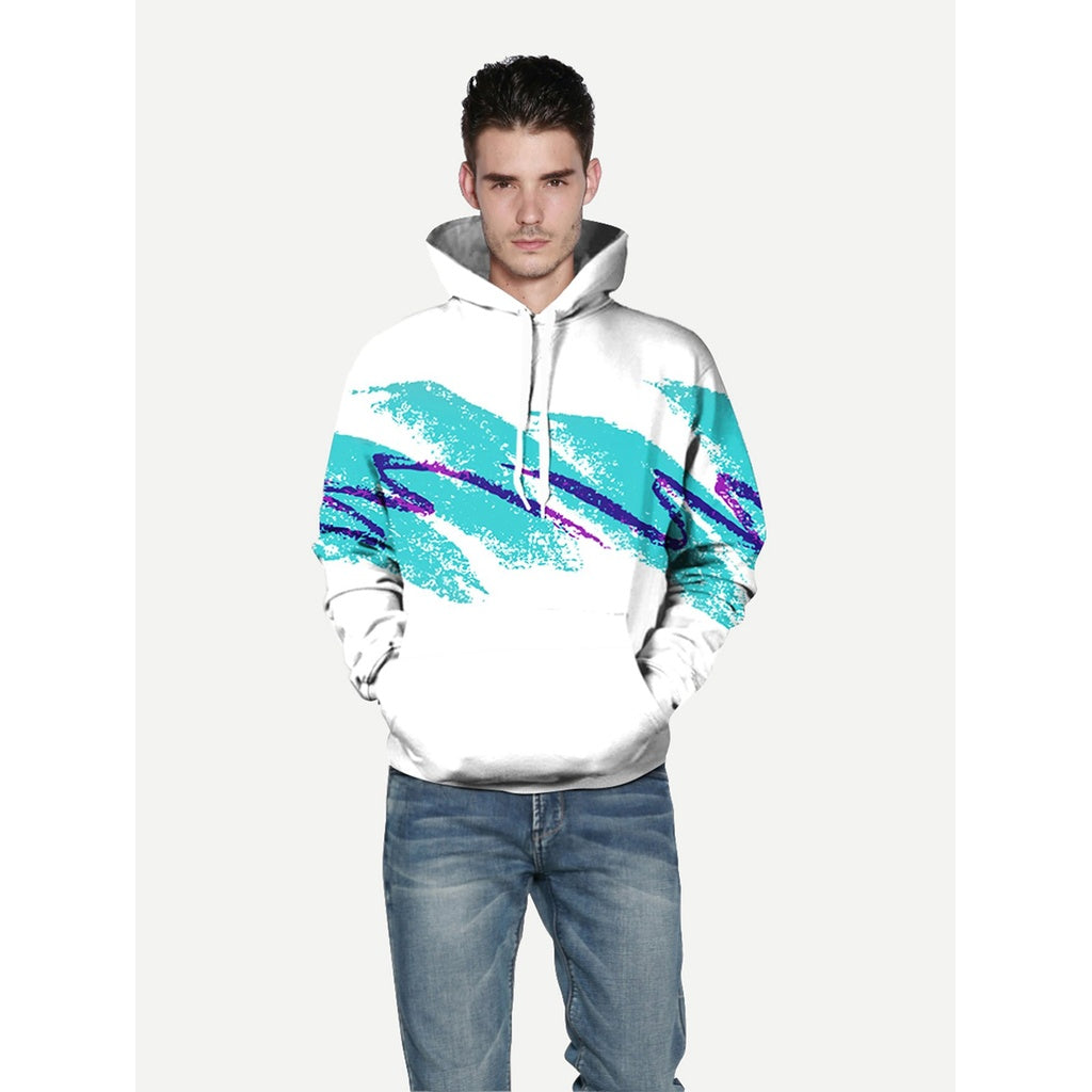 Stylish Abstract Brush Strokes  Hooded Sweatshirt