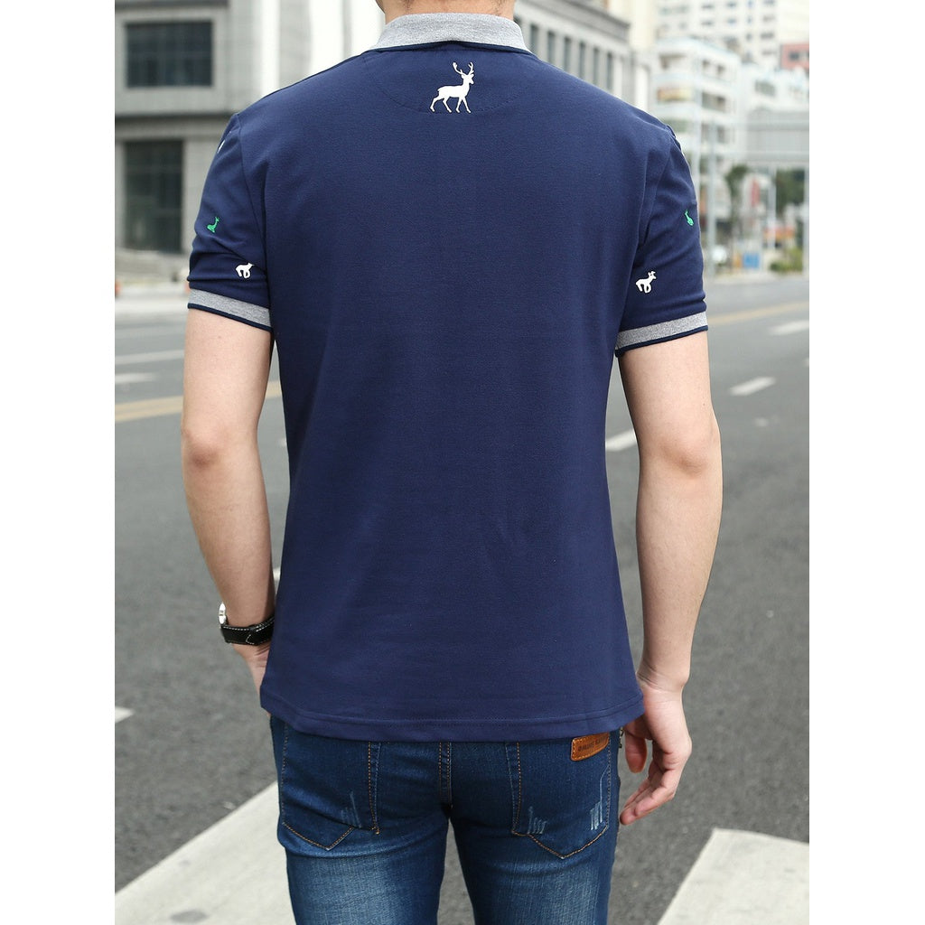 Men Casual Style Ringer Tee
