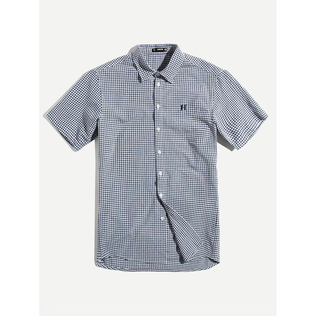 New Men Gingham Style Shirt