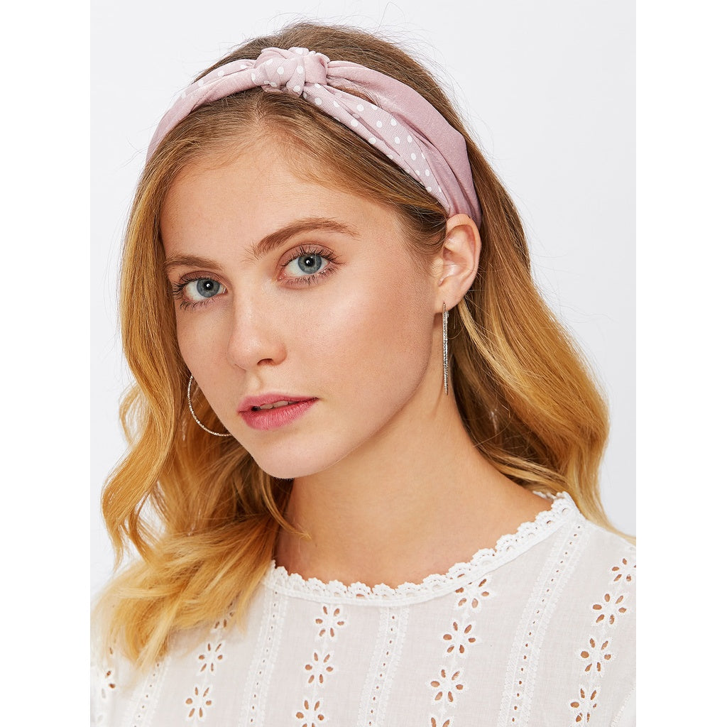 Trendy Polka Dot Knot Headband