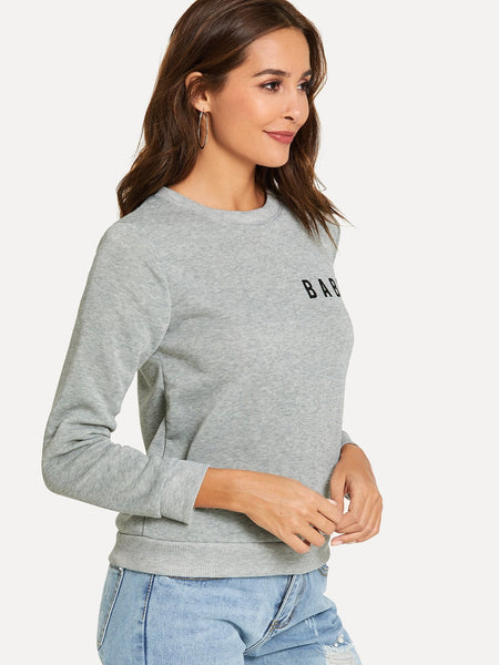 New Design Marled Knit Sweatshirt - BrandsGuru