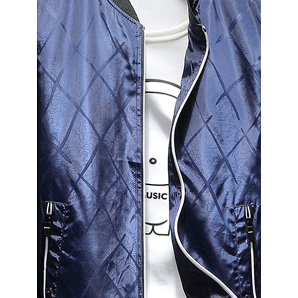 Casual Style Men Argyle Jacket