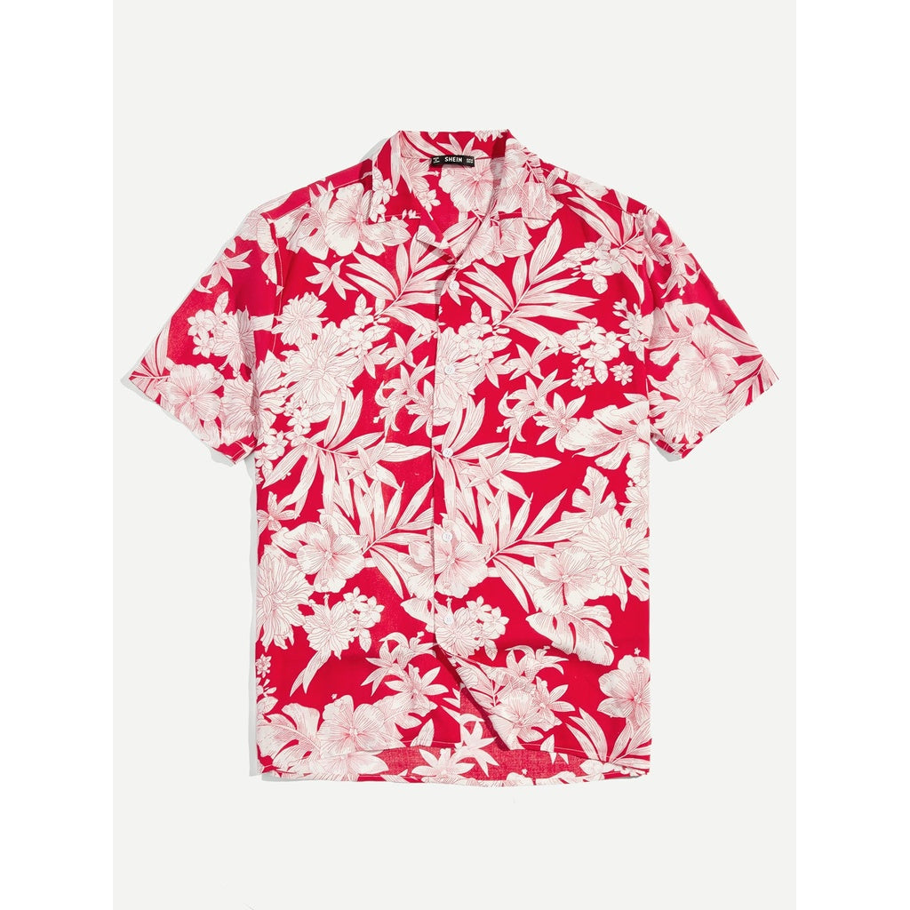 Men Miami Style Botanical Shirt