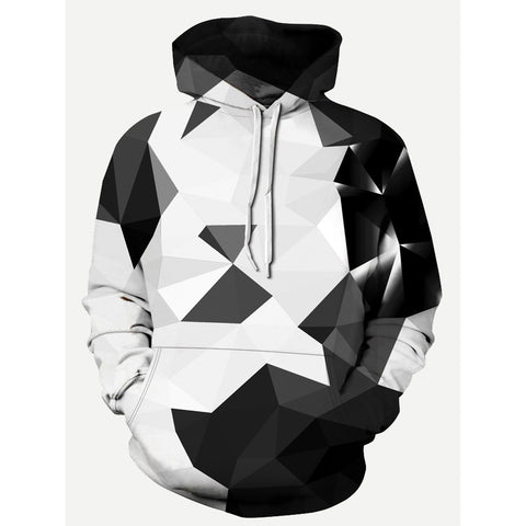 Men 3D Design Style Hooded Sweatshirt