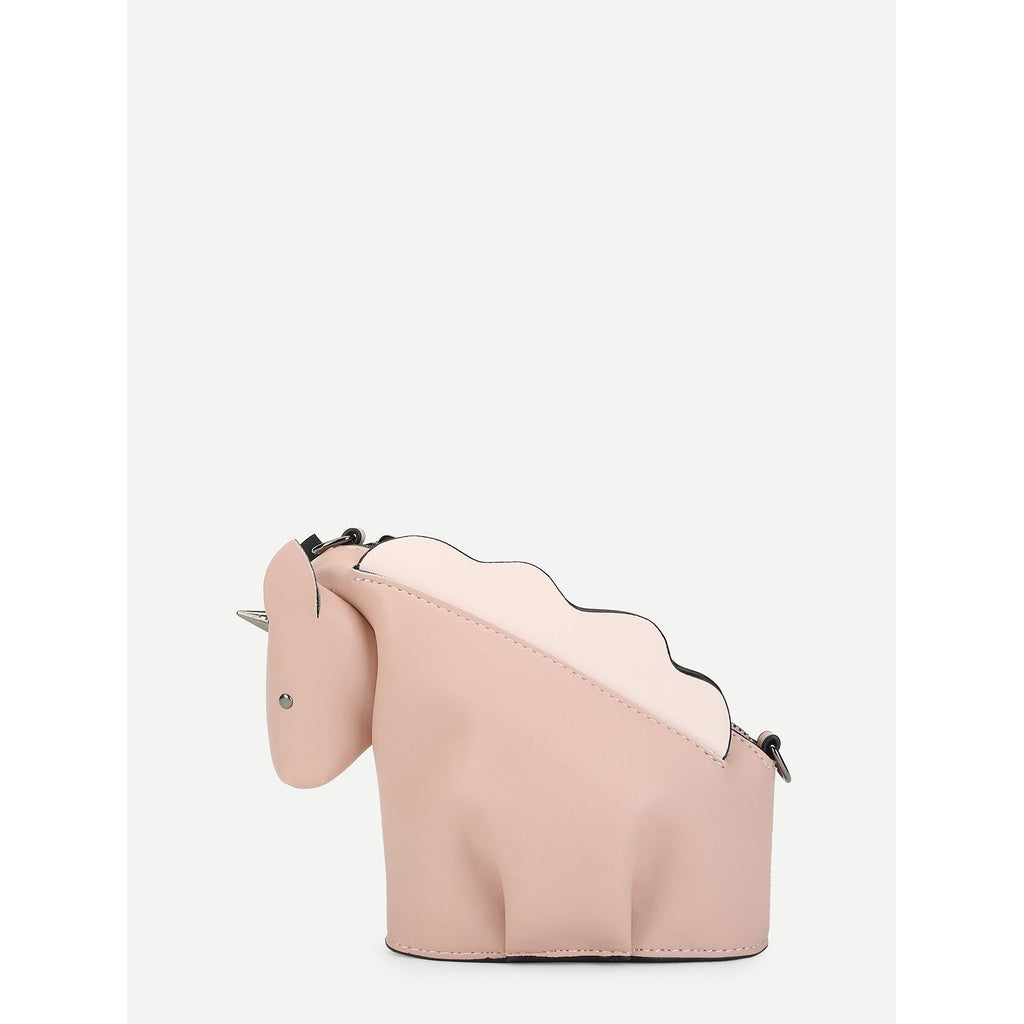 Trendy Unicorn Shaped Pure Crossbody Bag