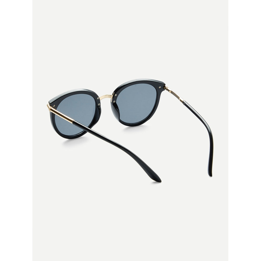 Stylish New Two Tone Frame Flat Lens Sunglasses