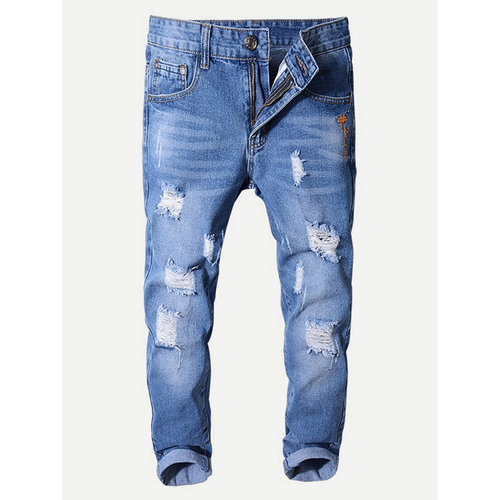 New Men Ruff and Tuff Style Washed Skinny Jeans