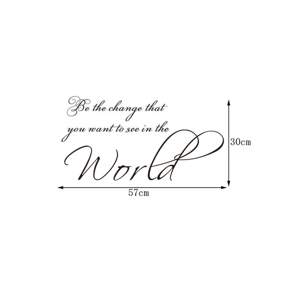 Beautiful Words Slogan Style Wall Sticker